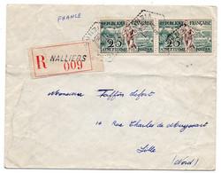 France Vienne Naliers Type F7 Du 17/08/1954 Sur N° 961 En Recommandé - 1921-1960: Periodo Moderno