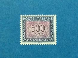 1992 ITALIA FRANCOBOLLO NUOVO ITALY STAMP NEW MNH** SEGNATASSE DA 500 LIRE DICITURA MARGINE I.P.Z.S. ROMA - - Segnatasse