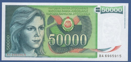 YUGOSLAVIA - P.96 – 50.000 Dinara 1988 - UNC   Prefix BA - Jugoslavia