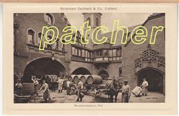 Kellereien Deinhard & Co. Coblenz (Koblenz) Moselweinkellerei, Hof, Um 1910 - Koblenz