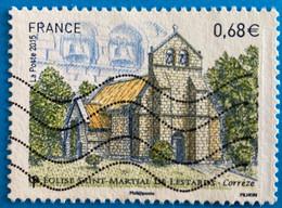 France 2015 :  Série Touristique, Eglise Saint-Martial De Lestards N° 4967 Oblitéré - Usati