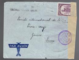 COB 181 / Lsc Aba 28 8? 41 => Genève Censure Congo Belge + Censure Bilingue Anglaise ( 57 ) Bande De Fermeture - 1923-44: Storia Postale