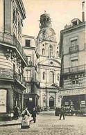 44 - Nantes - La Place Du Change Et L'Eglise Sainte Croix - Animée - Commerces - Voyagée En 1907 - Correspondance - CPA - Nantes
