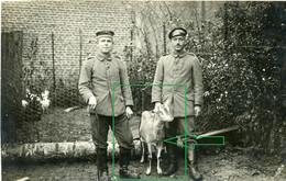 14-18.WWI - Carte Photo Allemande - Frontfoto  Soldaten Mit Ziege Goat - Guerra 1914-18
