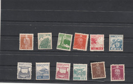 Japon Lot De 12 Timbres Entre 1942 Et 1946 *  Neufs Avec Charnière - Neufs