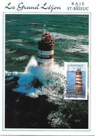 4115 -  LE PHARE DU GRAND-LEJON, Baie De Saint-Brieuc, 1er Jour 09-11-2007, SAINT-QUAY-PORTRIEUX (22) - MF - 2000-09