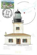 4116 - LE PHARE DE PORQUEROLLES - CAP D'ARMES, Oblitération, 16-2-2008 PORQUEROLLES (83) - MF - 2000-09