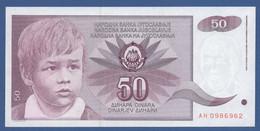 YUGOSLAVIA - P.104 – 50 Dinara 1990 - UNC  Prefix AH - Jugoslavia