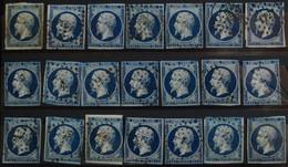 -NAPOLEON III N° 14 A   Bleu Foncé ( Peu De Marge.) - 1853-1860 Napoléon III