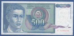 YUGOSLAVIA - P.106 – 500 Dinara 1990 - UNC   Prefix AT - Jugoslavia