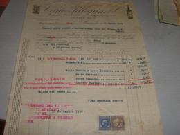 FATTURA DITTA CARLO PELLEGRINO STABILIMENTO ENOLOGICO MARSALA 1934-CON MARCHE DA BOLLO - Italia
