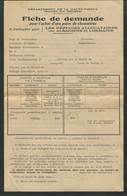 Guerre 39-45 Haute-Vienne Fiche De Demande Réfugiés Alsaciens Et Lorrains Pour Une Paire De Chaussures - 1939-45