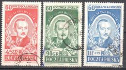Poland 1952 - Pres. Boleslaw Bierut - Mi.732-34 - Used - Used Stamps