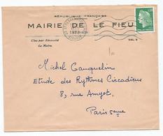 Enveloppe De La  Mairie De Le Fieu (33 Gironde) - Unclassified
