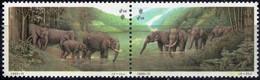 China 1995 2 V Se-tenant MNH Joint Issue With Thailand  Elephants  Elephant - Elefanten