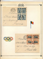 BELGIUM  SPORT OLYMPIC GAMES DISPERSION OF A NICE COLLECTION  1920 ANTWERPEN ADVERTISING CANCELATION - Sonstige