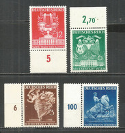 Germany REICH 1941 Year , Mint Stamps MNH (**) Mi. 768-712 - Unused Stamps