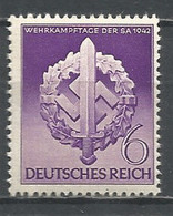 Germany REICH 1942 Year , Mint Stamp MNH (**) Mi. 818 - Unused Stamps
