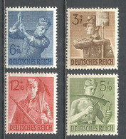 Germany REICH 1943 Year , Mint Stamps MNH (**) Mi. 850-53 - Unused Stamps