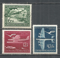 Germany REICH 1944 Year , Mint Stamps MNH (**) Mi. 866-68 - Unused Stamps