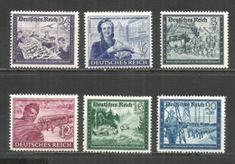 Germany REICH 1944 Year , Mint Stamps MNH (**) Mi. 888-93 - Unused Stamps