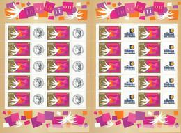France 2002 - F3479A Deux Bloc Feuillet Personnalisés Avec Logo Cérès Et Les Timbres Personnalisés Invitation - Neuf - Personnalisés