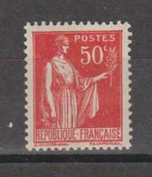 Paix 50c Rouge Type IV N°283g - 1932-39 Vrede