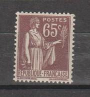 Paix 65c Violet-brun N°284 - 1932-39 Peace