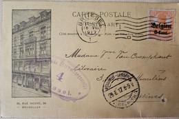 OC 13 Librairie Lebegue Bruxelles (Lessines 1917 ( Censure) - [OC1/25] Gov. Gen..