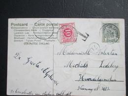 Tx 5 - Op PK Uit Montignies-sur-Sambre - Getaxeerd Gand 11/02/1906 - Brieven