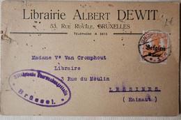OC 13 Librairie Albert Denis- Bruxelles (Lessines 1917 ( Censure) - [OC1/25] Gov. Gen..