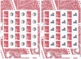 France 2003 - F3417a Deux Bloc Feuillet Personnalisés Avec Logo Cérès Et Les Timbres Personnalisés Marianne - Neuf - Sellos Personalizados