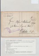 """Bataillon Allemand - Lettre """"Kaiserliche Werft / Petriebs Krankenkasse"""" + MARINESACHE / Scheepswerft (Brugge) - Army: German"""