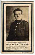 Lot 239 Oorlogsslachtoffer Gesneuveld Nieuwpoort Fiers Achiel Lid Weerstandsbrigade 8 September 1944 - Devotieprenten