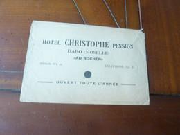 ENVELOPPE A EN TETE HOTEL CHRISTOPHE PENSION DABO MOSELLE AU ROCHER  ANNEE CIRCA 30 - Sonstige