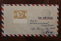 Nouvelle Nelle CALEDONIE 1947 France Australia Sydney Lettre Enveloppe Cover Colonie Par Avion Air Mail Noumea - Storia Postale