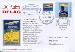 Germany Cover  - Aviation Transport Zeppelin + Vignette - Zeppelins