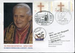 Germany Vatican Special Cover  - Aviation Transport Zeppelin + Papal Visit - Zeppelins