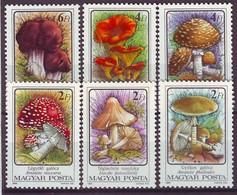 HUNGARY 3871-3876,unused,mushrooms - Unused Stamps