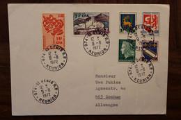 Réunion 1972 FRANCE Lettre Enveloppe Cover Colonie Allemagne Bochum - Covers & Documents