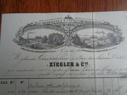 FACTURE VIERGE - 57- DEPARTEMENT DE LA MOSELLE - REMELFING 1863 - PRODUITS CHIMIQUES : ZIEGLER & CIE - Unclassified