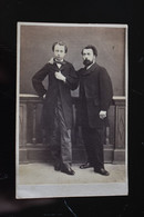 1870s CDV Russia Antique Photo - Two Russian Men In Suits - Ancianas (antes De 1900)