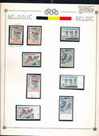 BELGIUM  SPORT OLYMPIC GAMES DISPERSION OF A NICE COLLECTION  1963 CYCLISME COB 1255/58 SET MNH + IMPERFORATED 1255V1 - Altri