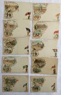 Lot De 10 Cartes -Exposition De 1900- Paris-631 - Exposiciones