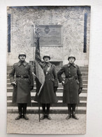 Photo Ak Na Oorlogs Vaandeldrager Herdenking 1914-1918 - Guerre 1914-18