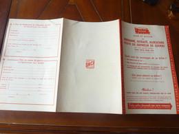 CHEMIN DE FER SNCF REDUCTION BILLET ALLER ET RETOUR BULLETIN  POUR LA REDUCTION 1957 - Railway