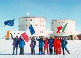 6 AK Antarktis * Station Dome C (Concordia) Französisch + Italienische Forschungsstation, Victoria Land, Pinguine * - Other
