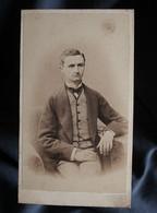 Photo CDV Warnod Et Caccia Au Hâvre - Second Empire Portrait Nuage Homme, Georges Cauchois Circa 1865 L389C - Oud (voor 1900)
