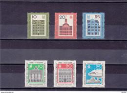 RDA 1962 FOIRE DE LEIPZIG Yvert 586-588 + 626-628 NEUF** MNH Cote : 5 Euros - Ongebruikt