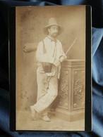 Photo Cabinet Anonyme - Homme En Tenue De Randonneur, Louis Ferlus En 1882 L389 - Old (before 1900)